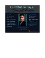 Constitution Day at Grinnell College