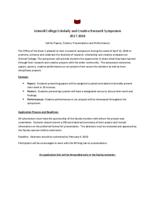Grinnell College Scholarly and Creative Research Symposium 2017-2018