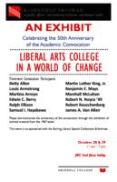 An Exhibit Celebrating the 50th Anniversary of the Academic Convocation Liberal Arts College in a World of Change