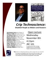 Crip Technoscience : Disabled People as Makers and Knowers