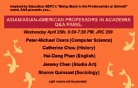 Asian/Asian-American Professors in Academic Q&A Panel
