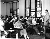 Professor Lecturing to a Large Class