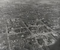 Aerial View Of Downtown Grinnell 1940s