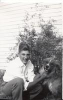 Teenaged Stan Greenwald and his Dog