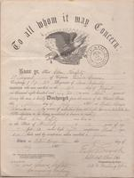 Elon Raffety Civil War Discharge Papers