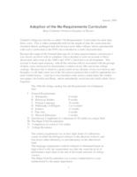 Adoption of the No-Requirements Curriculum