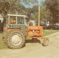 Sammy Peterson Driving a Tractor