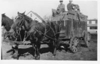 Horse-drawn Wagon with Corn