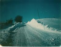 Blizzard of 1977 Road with Snow Piles