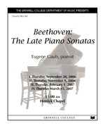 Beethoven : The Late Piano Sonatas