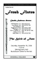 Fresh flutes: the Spirit of Flute