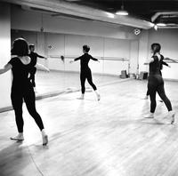 Betty Gough Voertman '67 leads dance in Fine Arts Center