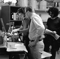 David A. Brown '71 and James D. Archer '71 in Psychology Lab