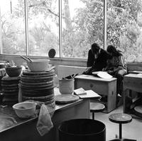 Jeff K. Kowalski '73 and Mary L. Fleming '71 in Ceramics Room