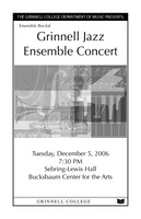 Grinnell Jazz Ensemble Concert