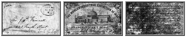 Season Ticket to The World's Industrial Exhibition of 1853