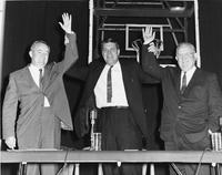 Hubert Humphrey, Clark Mollenhoff and Homer Capehart