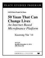 50 Yuan That Can Change Lives : An Internet Based Microfinance Platform