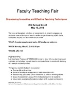 Faculty Teaching Fair