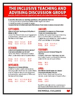 The Inclusive Teaching and Advising Discussion Group