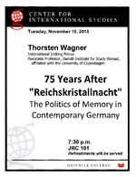 75 Years after Reichskristallnacht : The Politics of Memory in Contemporary Germany
