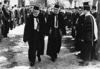 Honorary Marshall Cowden and Marshall Oelke Leading Processional 1969