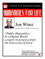 Public Humanities in a Digital World : A Report in Progress from the University of Iowa