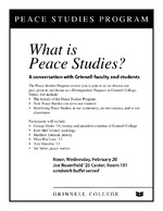 What is Peace Studies?