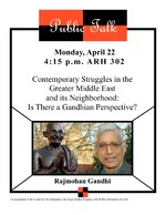 Contemporary Struggles in the Greater Middle East and its Neighborhood : Is There a Gandhian Perspective?