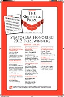 The Grinnell Prize : Symposium Honoring  2012 Prizewinners
