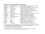 Convocation/Public Events Schedule, 2012-2013