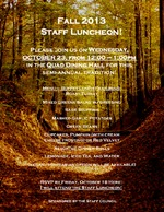 Fall 2013 Staff Luncheon