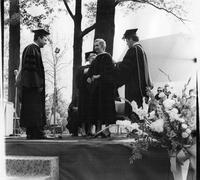 1972 Commencement stage from side