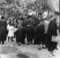 Students in Line at 1972 Commencement