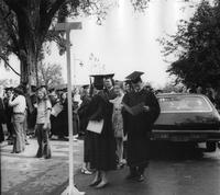 Students on Street at 1974 Commencement