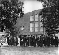 Faculty Lineup 1974 Commencement