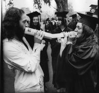 Students at 1975 Commencement