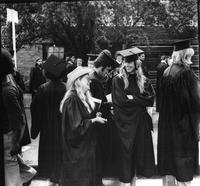 Students Talking at 1975 Commencement