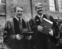 Glenn Leggett and R. James Kaufmann 1975 Commencement