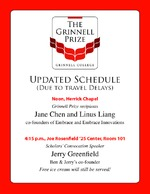 Grinnell Prize : Updated Schedule