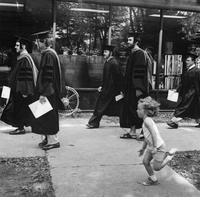 Students Walking 1977 Commencement