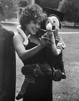 Rima Miller with a Puppet Commencement 1977