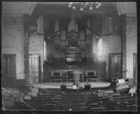 First Baptist Church (interior)