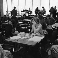 Students at Table in Forum 1973