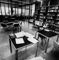 Interior of Burling Library in 1987