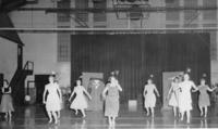 Dance Performance in Darby Gymnasium Early 1950s