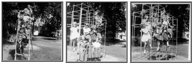Cooper School Children on the Playground