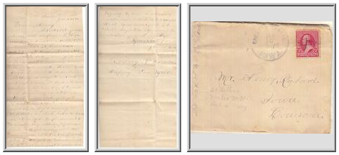 Letter to Henry Rickard from Jennie Max