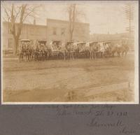 Horse-drawn delivery wagons