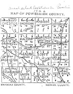 Rural School Locations in Poweshiek County, Iowa